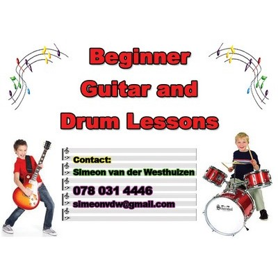 Beginner Guitar and Drum Lessons
